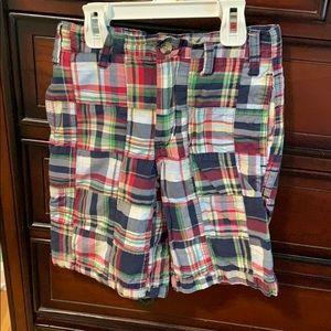 Boys plaid shorts